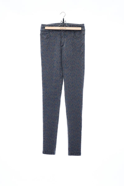 Sean Collection- Knitted Elastic Skinny Jeans - Bleach Gray