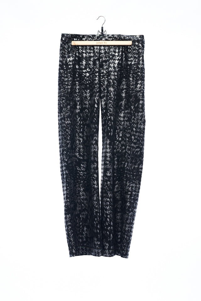 Sean Collection- Silver Coating Houndstooth Square Trouser