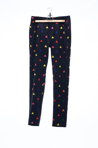 Sean Collection- Multi-Colour Triangle Pattern Printed Trouser