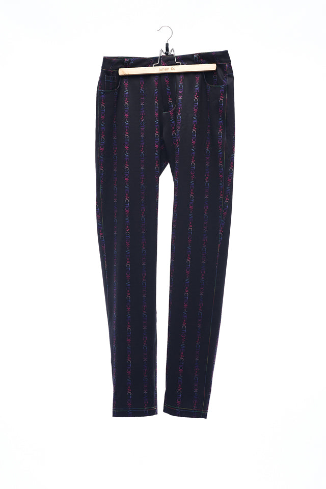 Sean Collection- ACTION=VIE Vertical Stripe Printed Trouser