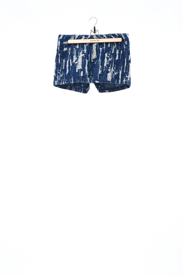 Sean Collection- Damaged Effect Jacquard Hotpants