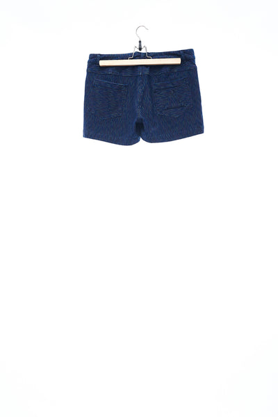 Sean Collection- Vertical Stripe Knitted Jeans Hotpants
