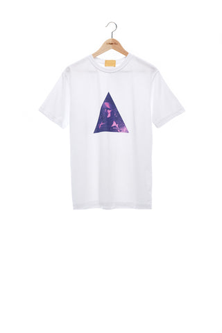 Sean Collection- BPM Inspired Triangle Graphic T-Shirt -White