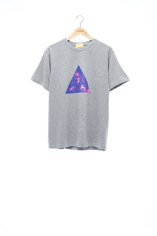 Sean Collection- BPM Inspired Triangle Graphic T-Shirt -Gray