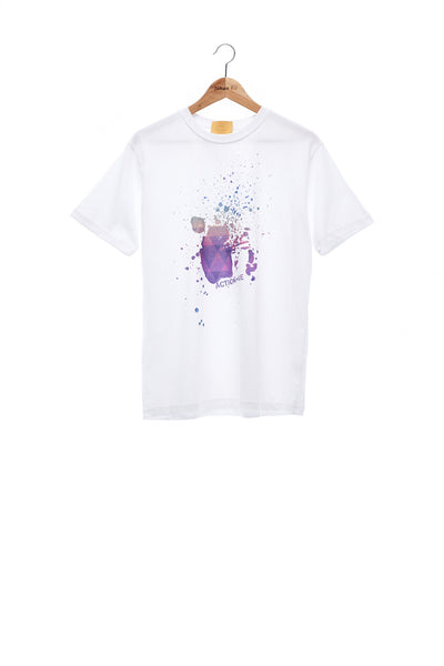 Sean Collection- BPM Inspired Splash Graphic T-Shirt -White