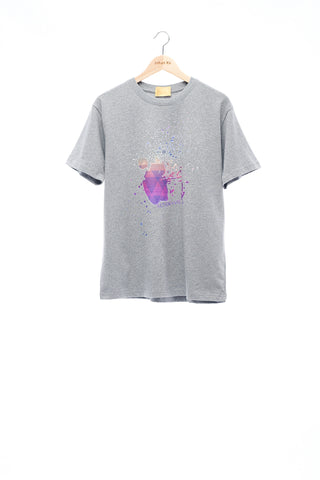 Sean Collection- BPM Inspired Splash Graphic T-Shirt -Gray