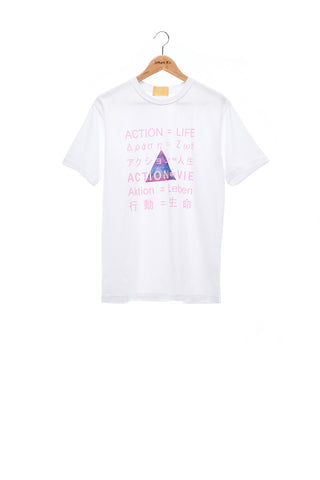 Sean Collection- BPM Inspired Slogan Graphic T-Shirt -White