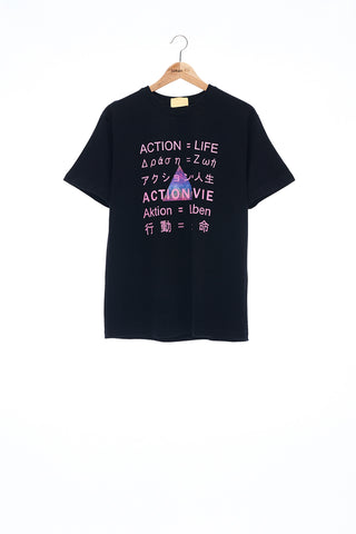 Sean Collection- BPM Inspired Slogan Graphic T-Shirt -Black