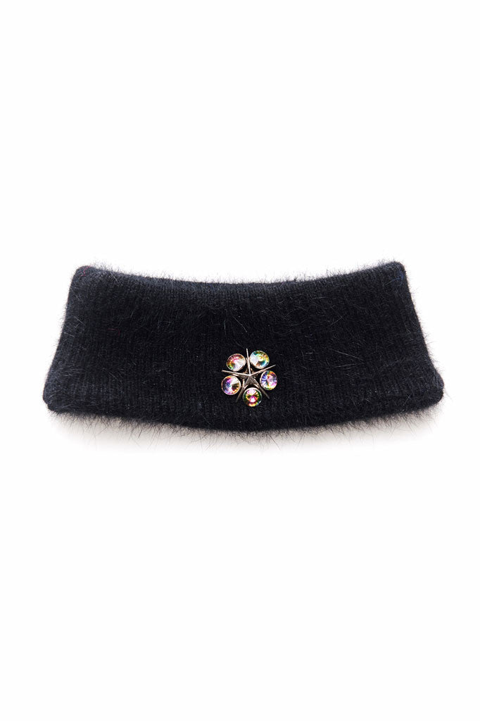 Slade Collection- Angora Hair with Rivet Detailed Snood