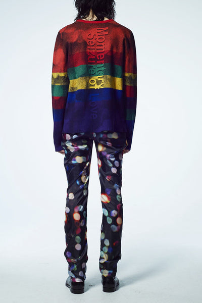 Slade Collection- Rainbow Colour Knitted Sparkle Dots Jacquard Top