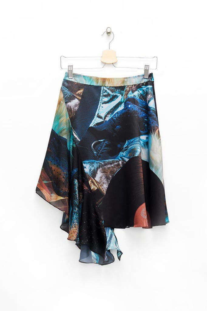 Slade Collection- Velvet Goldmine Inspired Asymmetry Skirt