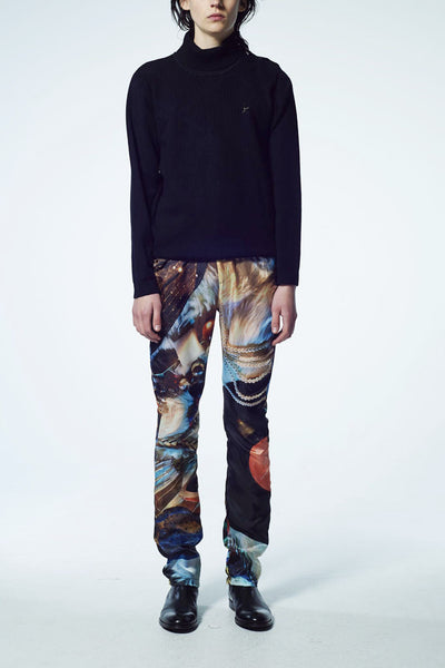 Slade Collection- Velvet Goldmie Inspired Graphic Printed Trouser - Johan Ku Shop