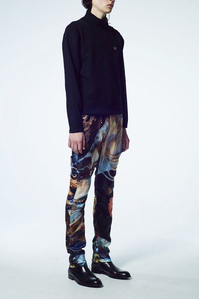 Slade Collection- Velvet Goldmie Inspired Graphic Printed Trouser