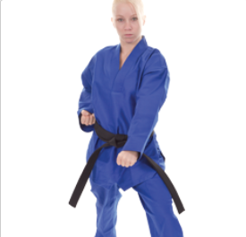 Tae Kwon Do or V Neck Uniform. BLUE