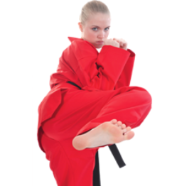 Tae Kwon Do or V Neck Uniform. RED