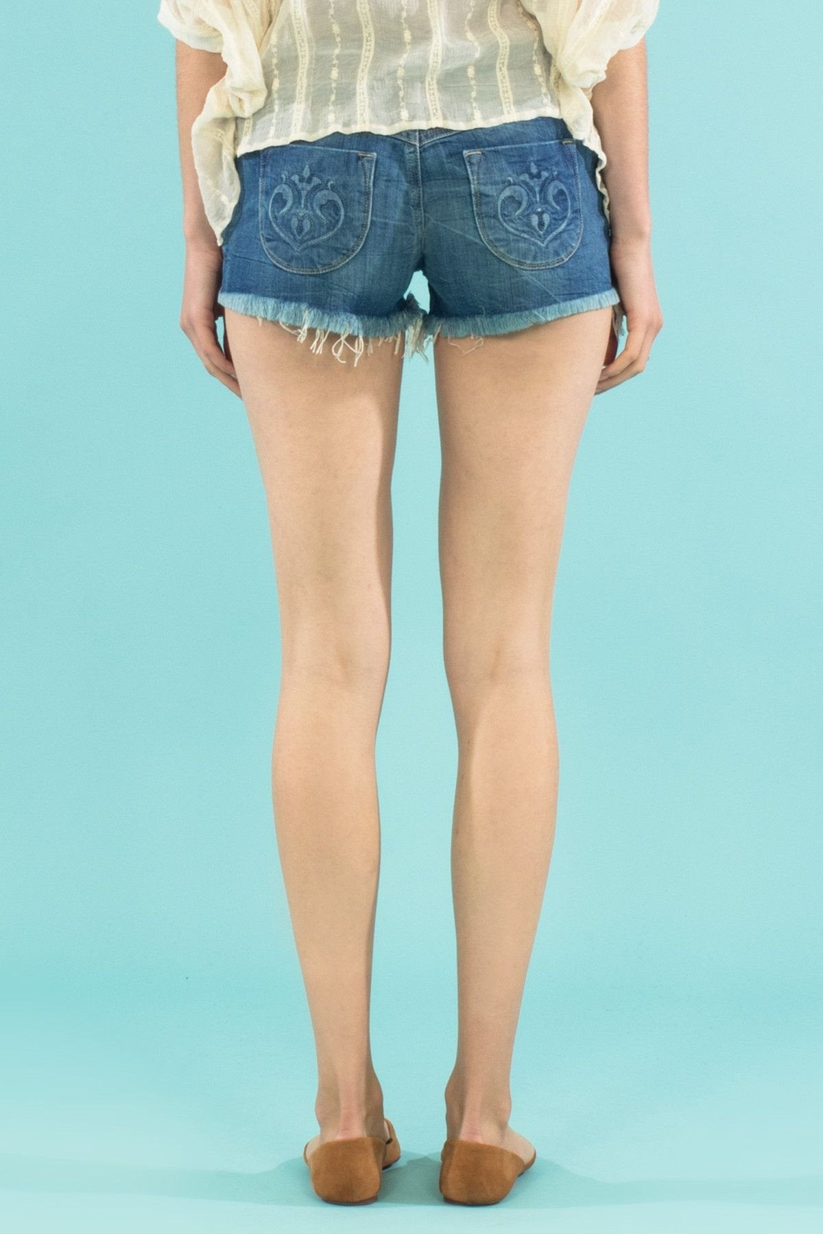 Siwy Camilla In Come Away With Me Shorts-Skirts & Shorts-Siwy Denim