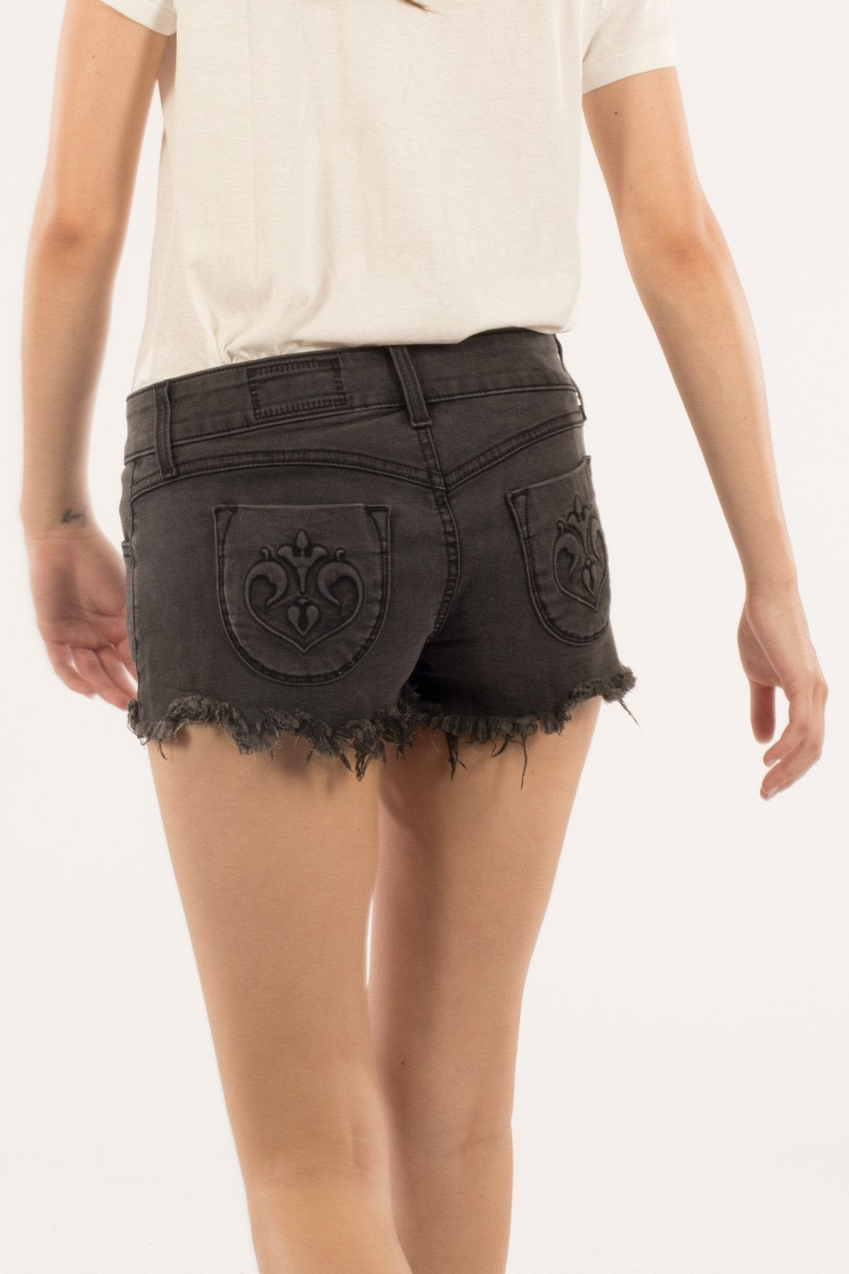 Siwy Camilla In Thunderstorm Shorts-Skirts & Shorts-Siwy Denim