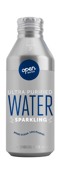Open Water Sparkling Bottled Water 16oz bottle