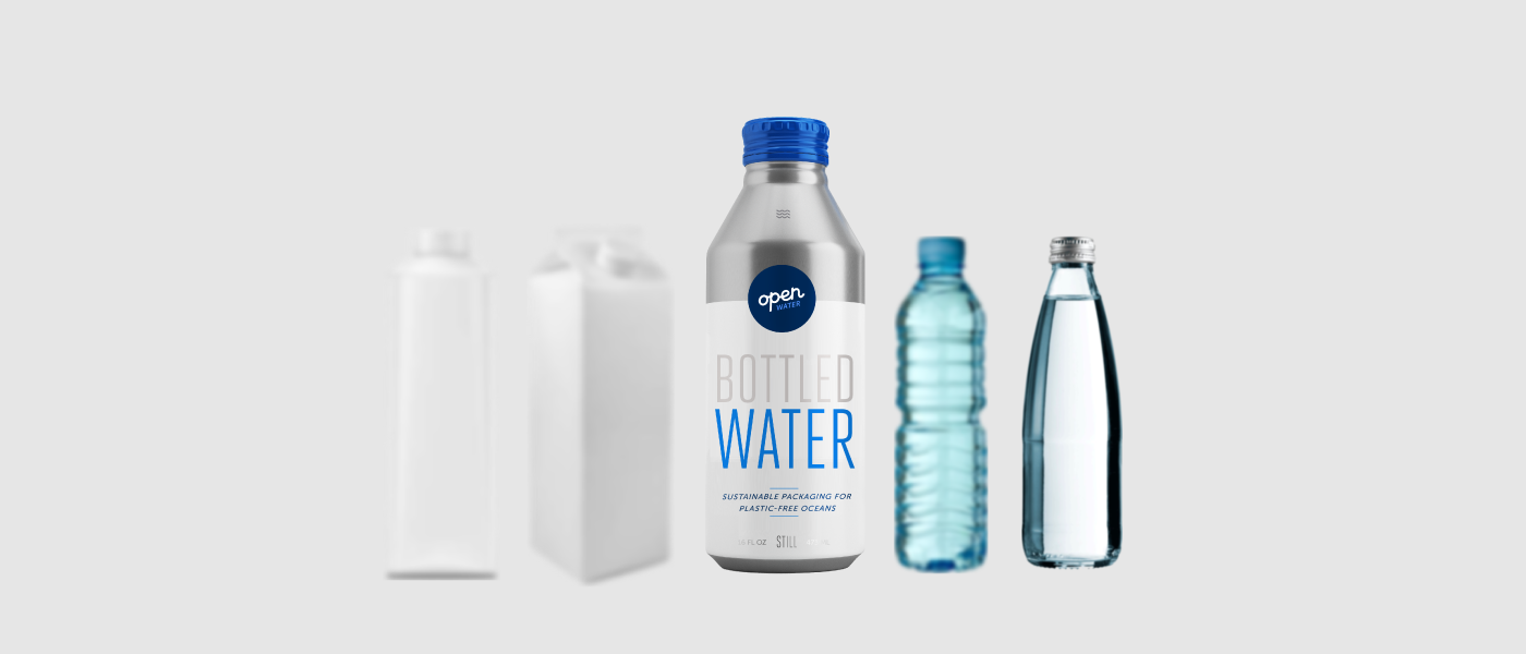 canned water versus plastic glass cartons