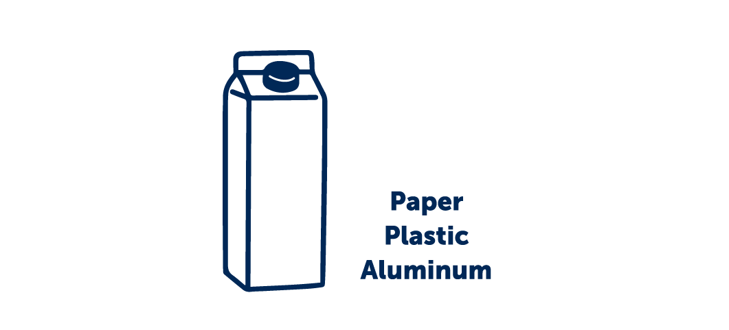Cartons are made of 6 layers of paper, plastic, and aluminum