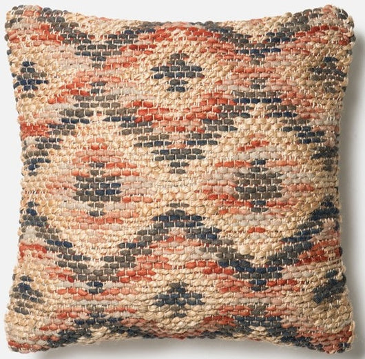 Multi Rust / Beige / Navy Pillow