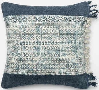 Blue Kilim w/Fringe Pillow