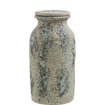 Crusty Canister with Teal Glazing