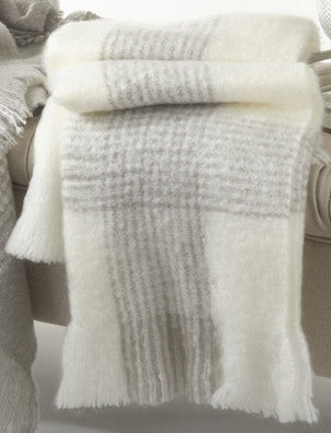 Faux Mohair Throw - Ivory