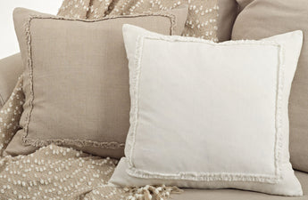 Frayed Linen Pillow