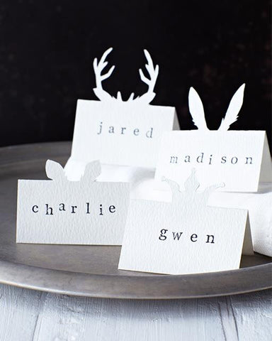 animal motif DIY place cards