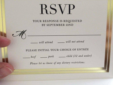 An hilarious mistake in a wedding RSVP card!