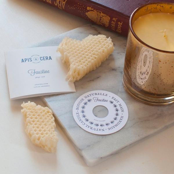 Apis Cera x Invited: Faustine Amber & Gold Candle