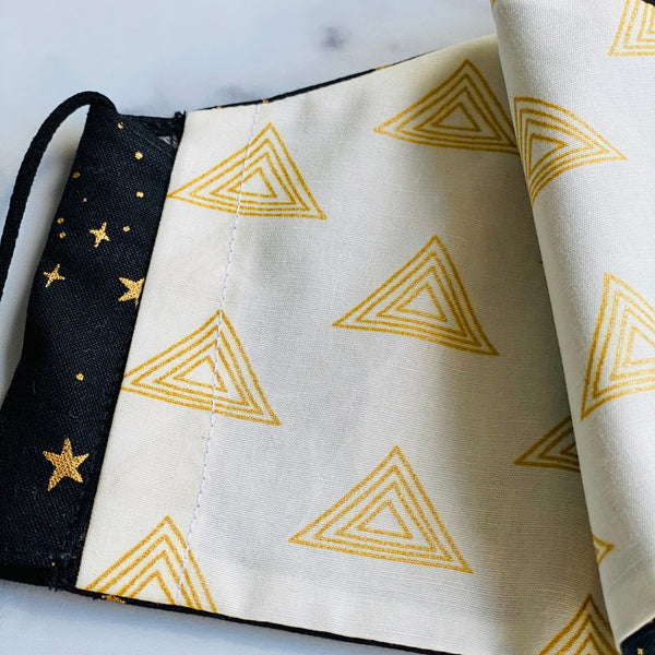 Handmade Face Coverings in Starry Prints