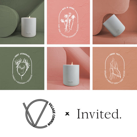 Village Common x Invited: Land Candle Collection