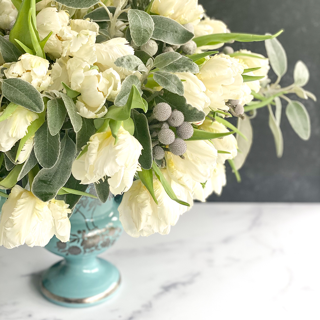 Invited Blooms: January 2021 White Parrot Tulip Mix