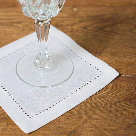 Invited Fine Linens: Stockholm Cocktail Napkin Set of 4
