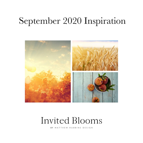 Invited Blooms: September 2020 Late-Summer Hues