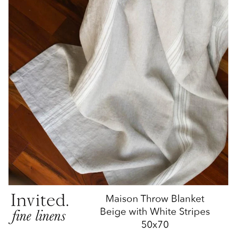 Invited Fine Linens: Maison Throws - 7 color options