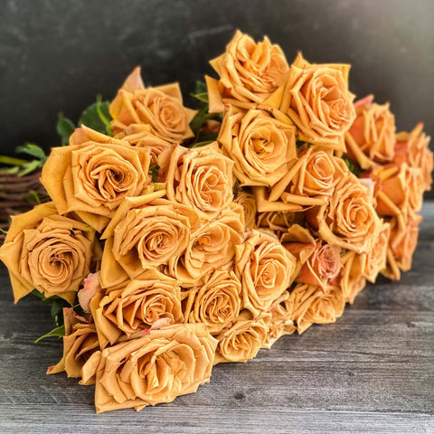 Blushing Toffee Roses for Valentine's Day - 50 Stems