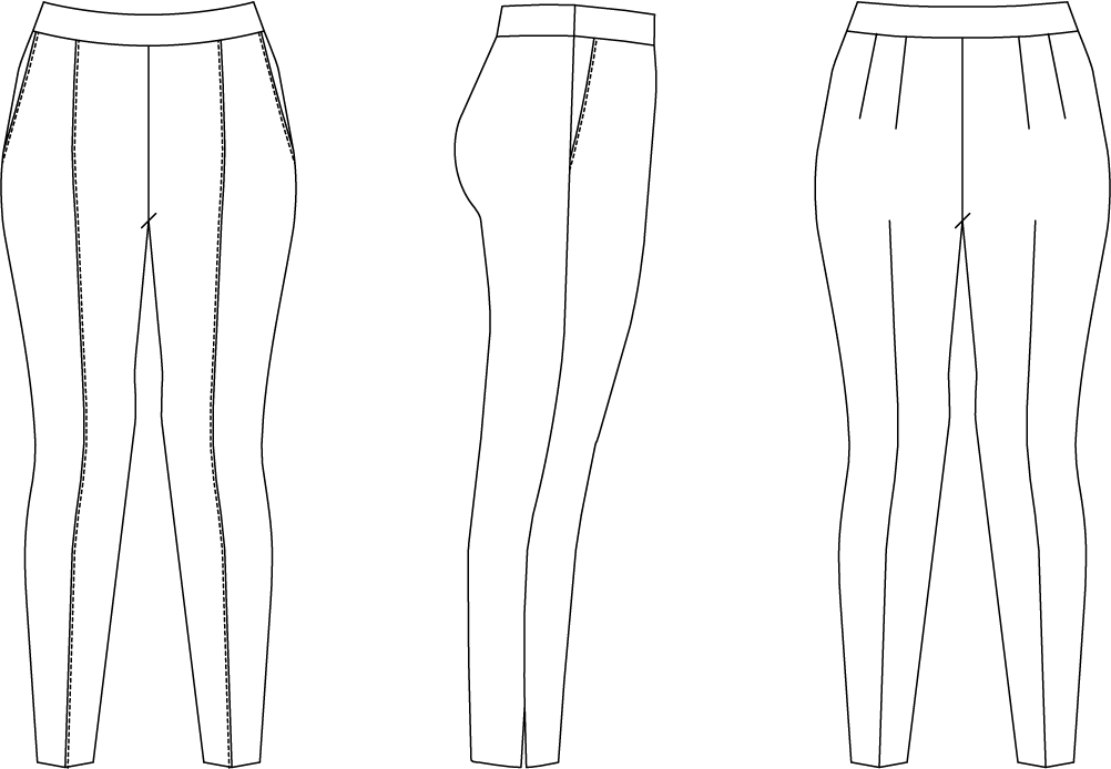 Kylie Pants Custom Fit Sewing Pattern – SewFitography