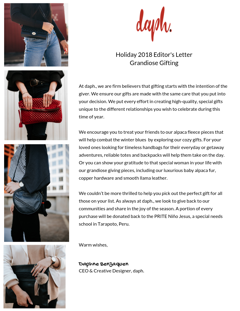 Holiday 2018- Founder's Letter
