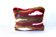 mosy. baby alpaca fur clutch bag