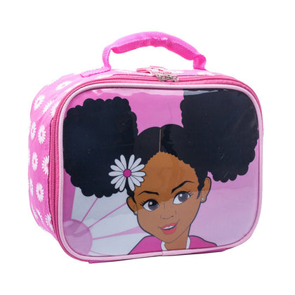 black girl lunch bag for school