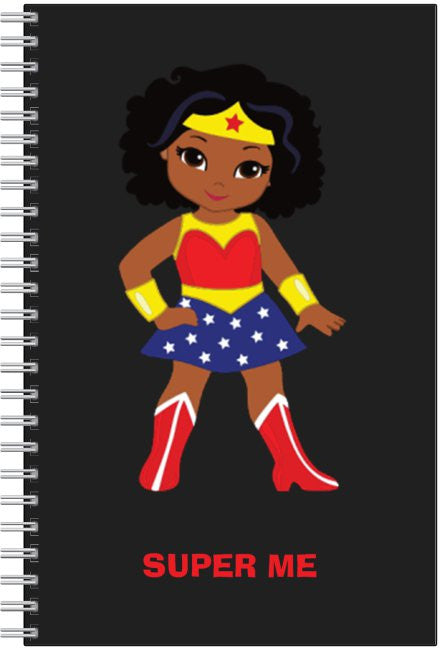 "SUPER ME - Girl Notebook (6"" by 9"")"