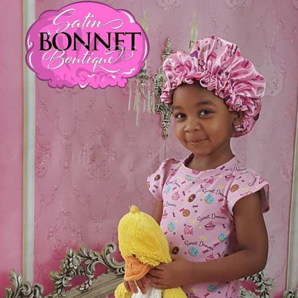 Kids Satin Bonnets Age 2-5