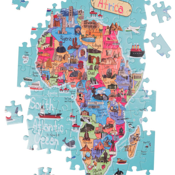 Africa Map Giant Jigsaw Puzzle