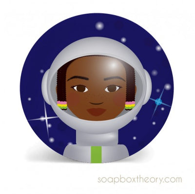 "8"" Astronaut Girl Lunch Plate"