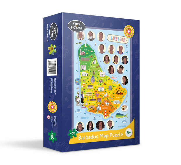 Barbados Map Giant Jigsaw Puzzle