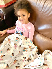 "BLACK GIRL MAGIC - 50"" MAJESTIC BLANKET"