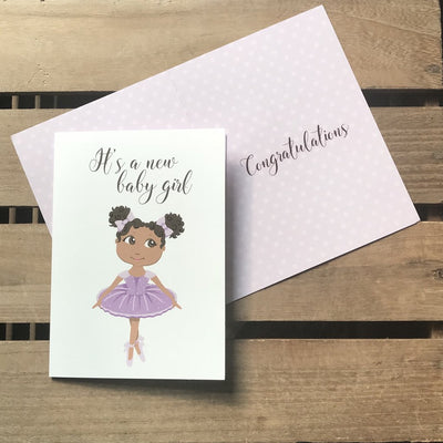 ZHARA - IT'S A BABY GIRL GREETING CARD